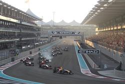 Start: Sebastian Vettel, Red Bull Racing líder