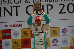 Podium: third place Kazuki Nakajima