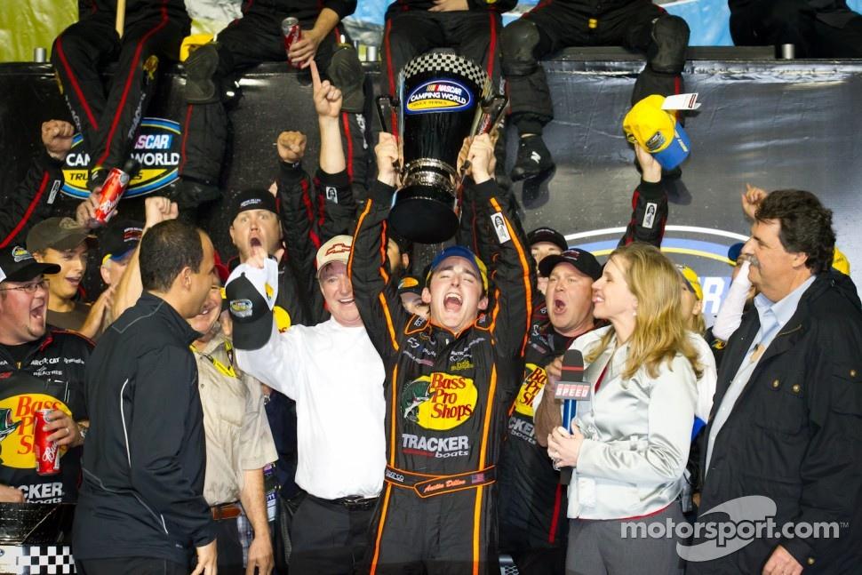 Championship podium: NASCAR Camping World Truck Series 2011 champion Austin Dillon, RCR Chevrolet celebrates