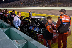 Stewart-Haas Racing Chevrolet team members celebrates with Tony Stewart as he wins the NASCAR Sprint Cup Series 2011 championship