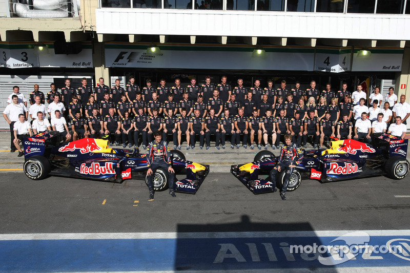 Red Bull Racing team picture