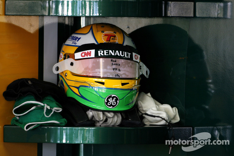 Helmet of Luiz Razia, Team Lotus