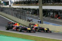 Mark Webber, Red Bull Racing passes Sebastian Vettel, Red Bull Racing