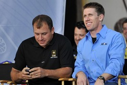 Ryan Newman and Carl Edwards