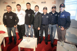 Jean-Marc Fortin, Krzysztof Holowczyc,Marek Dabrowski, James Przygonski and Jacek Czachor