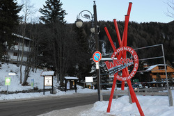 The entrance to Madonna di Campiglio