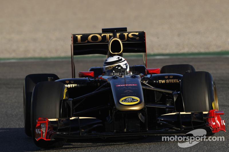 Kimi Raikkonen test de 2010 Lotus Renault