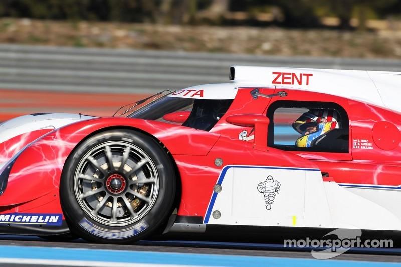 Alexander Wurz au volant de la Toyota TS030 Hybrid