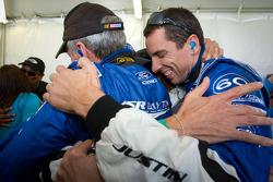 Oswaldo Negri, John Pew and Justin Wilson celebrate victory