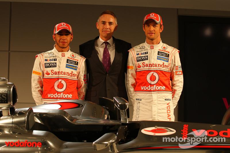 Lewis Hamilton, McLaren Mercedes, Martin Whitmarsh, McLaren, Chief Executive Officer and Jenson Butt