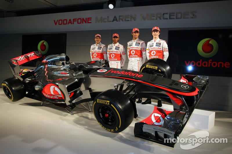 Gary Paffett, McLaren Mercedes and Jenson Button, McLaren Mercedes