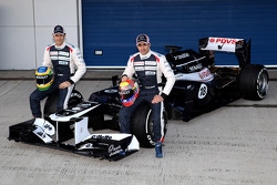 Bruno Senna, Williams F1 Team, y Pastor Maldonado, Williams F1 Team