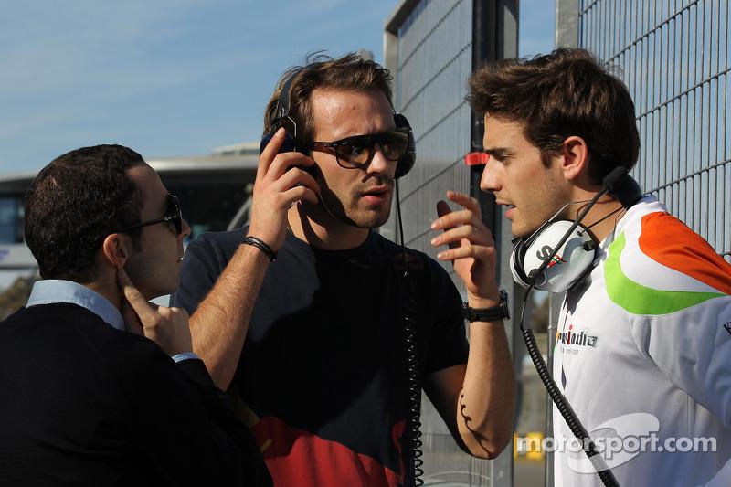 Nicolas Todt, pilotu s manager ve Jean-Eric Vergne, Scuderia Toro Rosso ve Jules Bianchi, Sahara For