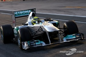 Rosberg with the 2011 Mercedes
