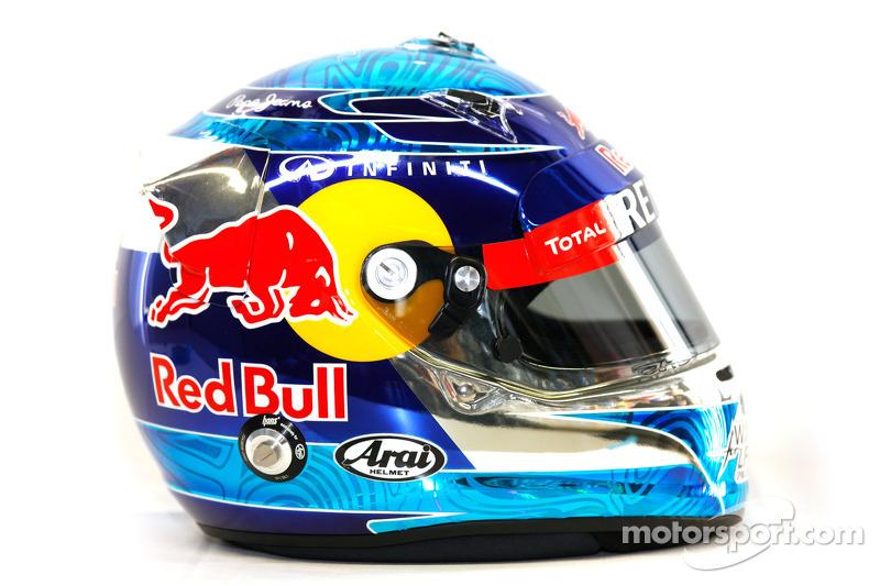 Sebastian Vettel, Red Bull Racing helmet