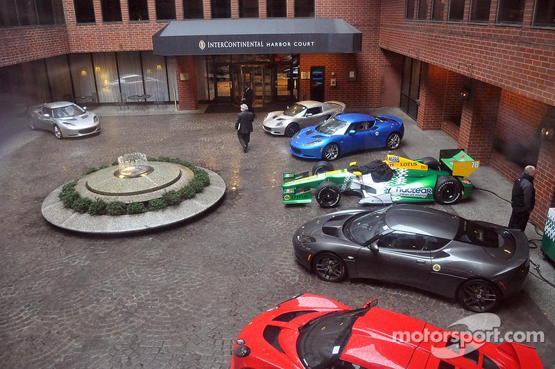 Lotus wagens in het InterContinental Hotel in Baltimore