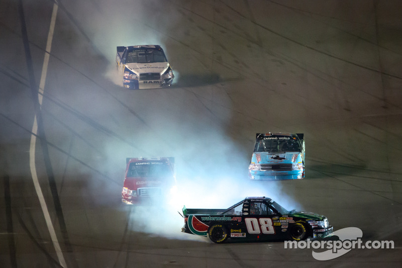 Ross Chastain, SS Green Light Racing Toyota crash