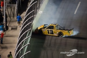 Johnny Sauter, ThorSport Racing Toyota crashes