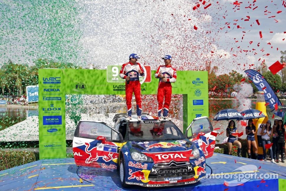 Podium: winners Sébastien Loeb and Daniel Elena, Citroën DS3 WRC, Citroën Total World Rally Team