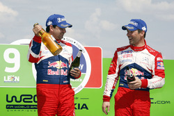 Podio: ganadores Sébastien Loeb y Daniel Elena, Citroën DS3 WRC, Citroën Total World Rally Team