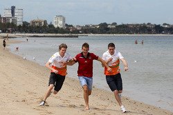 Nico Hulkenberg, Sahara Force India Formula One Team, Jack Trengove, Australian rules football player and Paul di Resta, Sahara Force India Formula One Team