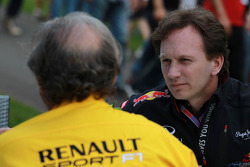 Jean-Francois Caubet, Managing director of Renault met Christian Horner, Red Bull Racing, Sporting Director