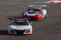 #43 RealTime Racing, Acura NSX GT3: Ryan Eversley; #16 Wright Motorsports, Porsche 911 GT3 R: Michael Schein