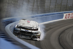 Cole Custer, Stewart-Haas Racing Ford crashes