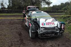 Авария: Каетан Каетанович и Ярослав Баран, Ford Fiesta R5