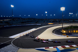Daniil Kvyat, Scuderia Toro Rosso STR12, Carlos Sainz Jr., Scuderia Toro Rosso STR12, Lance Stroll, Williams FW40, Sergio Pérez, Force India VJM10