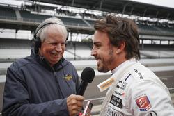 Fernando Alonso, Andretti Autospor,t Honda, mit Robin Miller, NBC