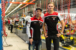 Davies and Melandri Ducati factory visit