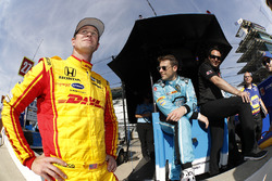 Ryan Hunter-Reay, Andretti Autosport, Honda; Marco Andretti, Andretti Autosport, Honda; Bryan Herta
