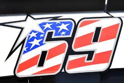 Nicky Hayden decal on the car of Kasey Kahne, Hendrick Motorsports Chevrolet