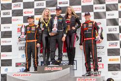 TCA Podium: first place Tom O'Gorman, Shea Racing, second place Elivan Goulart, S.A.C. Racing , third place Matthew Fassnacht, S.A.C. Racing