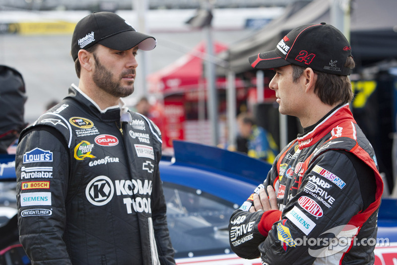Jimmie Johnson en Jeff Gordon, Hendricks Motorsports Chevrolet