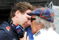 Christian Horner, Red Bull Racing Team Principal en Jackie Stewart