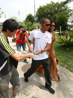 Lewis Hamilton, McLaren Mercedes and his girlfriend Nicole Scherzinger