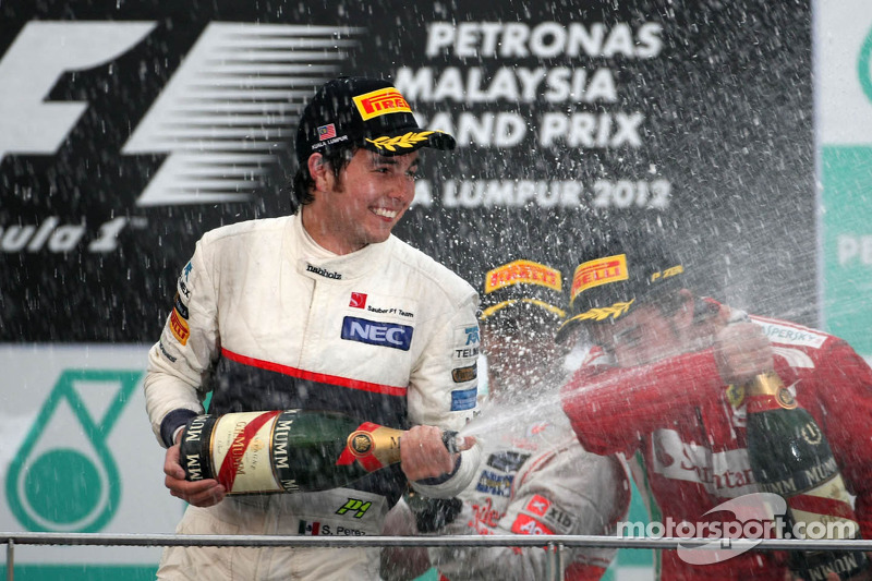 Primer podio, GP de Malasia 2012
