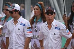Sergio Pérez, Sauber F1 Team y Kamui Kobayashi, Sauber F1 Team