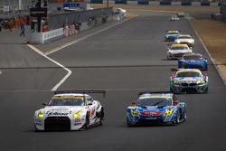 #3 NDDP Racing Nissan GT-R Nismo GT3: Yuhi Sekiguchi, Katsumasa Chiyo and #31 APR Toyota Prius: Morio Nitta, Koki Saga