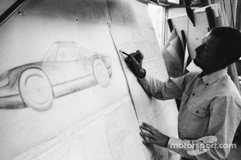 Ferdinand Alexander Porsche op kantoor (1963)
