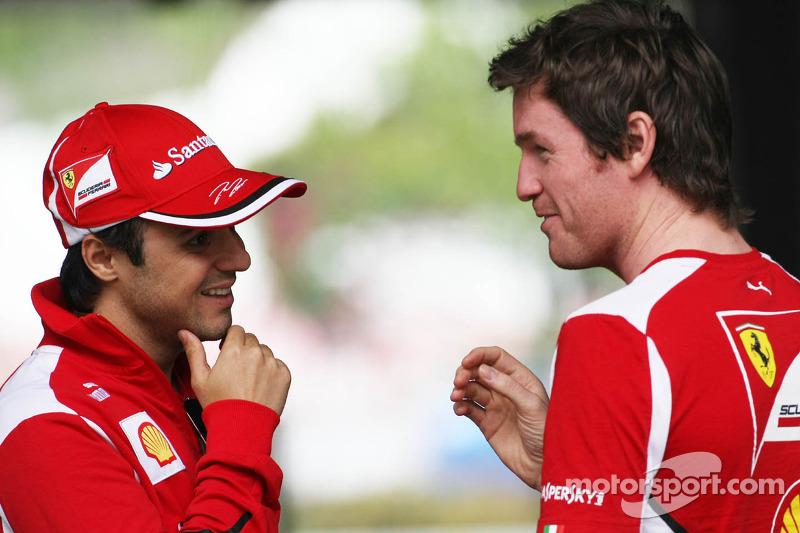Felipe Massa, Scuderia Ferrari with Rob Smedley, Scuderia Ferrari Race Engineer