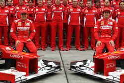 Fernando Alonso, Scuderia Ferrari and Felipe Massa, Scuderia Ferrari at a team photograph