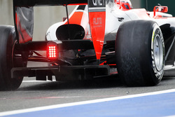 Timo Glock, Marussia F1 Team rear diffuser detail