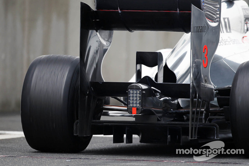 Jenson Button, McLaren Mercedes diffuser