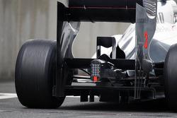Jenson Button, McLaren Mercedes rear diffuser detail
