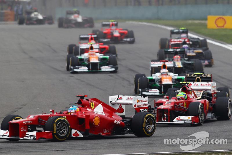Fernando Alonso, Ferrari voor ploegmaat Felipe Massa, Ferrari