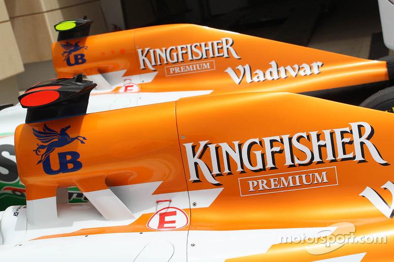 Sahara Force India F1s van Paul di Resta en Nico Hulkenberg