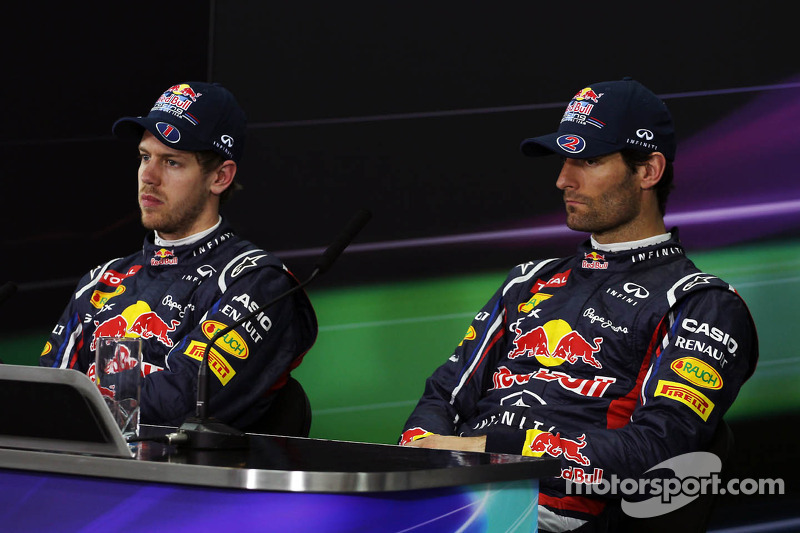 Sebastian Vettel, Red Bull Racing en Mark Webber, Red Bull Racing in de FIA persconferentie